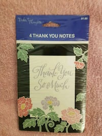 Thank you cards (pk of 4) Edmonton, T5S 2A8