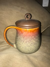 Danesco Ch'A Tea Brown Mug With Infused Lid /firm price Calgary, T3E 6L9
