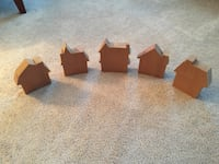 Set of five wooden house cut outs. Alexandria, 22310