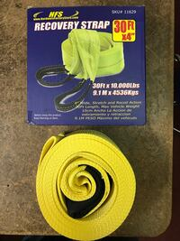 Recovery tow straps
