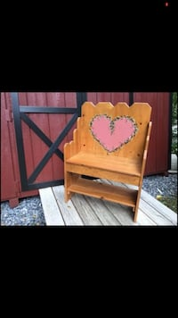The cutest little solid wood rustic bench you ever did see hand made
