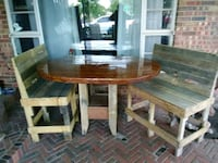 brown wooden dining table set Oklahoma City, 73112