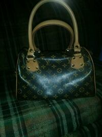 black and brown leather Louis Vuitton monogram tot Mesquite, 75150