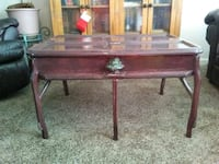 Handmade table made from a door from 1889 Windsor, 80550
