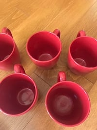 Red Mugs, Milk and Sugar, with Bowl  Fairfax Station, 22039