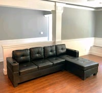 BRAND NEW IN BOX 5x8 BONDED LEATHER SECTIONAL Port Coquitlam, V3B 3V7