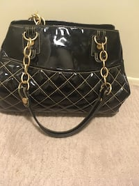 black leather 2-way bag 3149 km