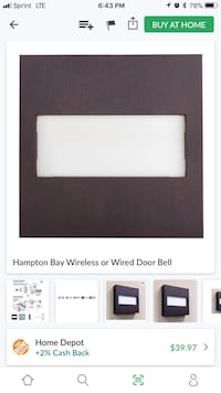 white Hampton Bay wireless door bell screenshot Covina, 91722