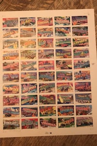 Greetings from America Full Sheet of 50 37-cent State Stamps, USA Alexandria, 22303