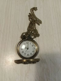Bronze zodiac dog pocket watch