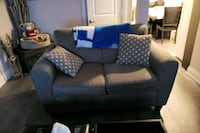 black and gray fabric 2-seat sofa Vaughan, L4H 1T5