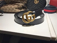 Authentic Black gucci marmont leather belt in medium with Dustbag Toronto, M5P