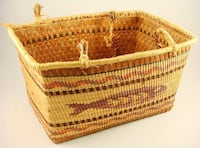 Nuu-chah-nulth woven basket, length 12 inches.  Vancouver, V6E 4V3
