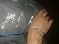 silver real gold chain and bracelet  143 mi