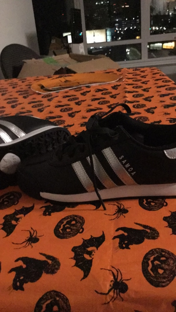 6a7af49edb91a7 Used black-and-white Adidas low-top sneakers for sale in Boston - letgo