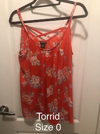 Red and white floral spaghetti strap top Bradford West Gwillimbury, L3Z 0G8