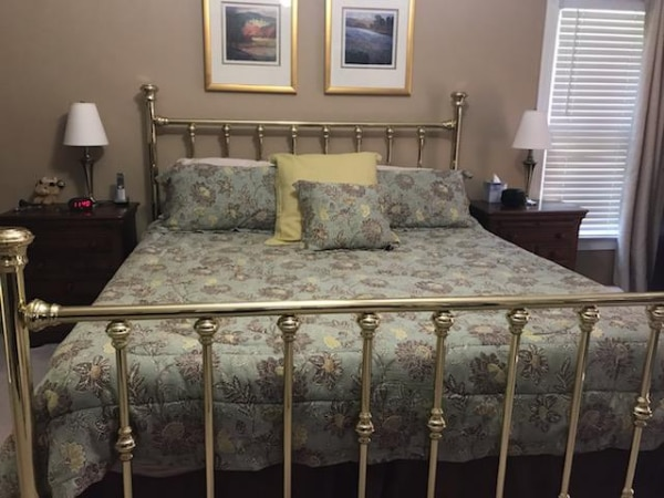 finest selection c9fb4 6be5e Brass Bed - headboard, foot board, frame, Comforter and Pillow covers