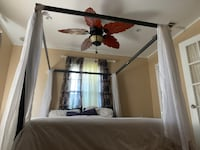 Queen Size Canopy Bed With Curtains Without Mattress  New Orleans, 70126