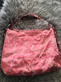 red monogrammed Coach leather hobo bag Calgary, T2H