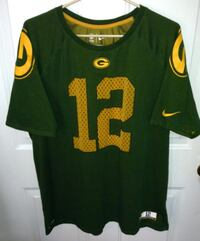 Green Bay Packers Rogers No 12 Nike Dri-Fit T shirt Size XL