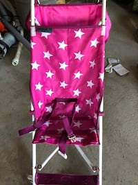 Pink with white stars stroller Wasaga Beach, L9Z 0A9