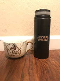 Brand New Star Wars stainless steel travel mug and Latte mug Concord, 94518