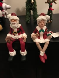 D MANNING SHELF SITTER MR & MRS SANTA CLAUS LIMITED EDITIONS
