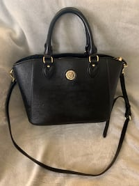 Anne Klein Handbag - Black with Gold Details  Welland