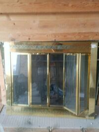 Gold Colored Fire Place Cover