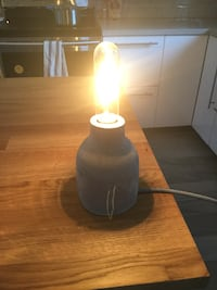 Concrete Base Lamp with Edison style bulb Vancouver, V5Y 2G5