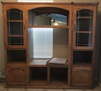 **price AGAIN reduced!!** all natural hardwood entertainment center