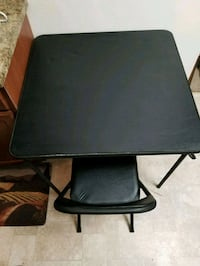 Black dinning table and chair.