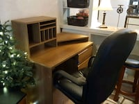 brown wooden comp desk and new chair Columbus, 43229