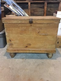 Antique scrubbed pine chest