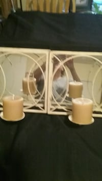 Metal and mirror candle holders Denison, 75020
