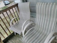 white and gray stripe fabric sofa chair Kalamazoo, 49001