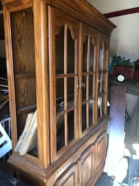 brown wooden cabinet with mirror Princeton, 75407
