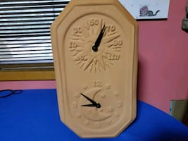 Terracotta Celestial Clock and Thermometer