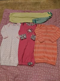 Girl 0-3m sleep nighties/sleep sacks  Surrey, V3W 5S2
