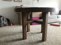 West Elm refinished pine table. 3 1/2 x 3 1/2 ft in diameter. Alexandria, 22314