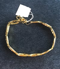 18 k gold plated over sterling silver 925 bracelet Wasaga Beach, L9Z 2T4