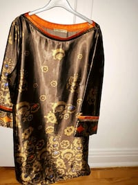 black and brown floral long-sleeved dress Montréal, H4L 2X5