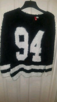 black and white knit textile Reading