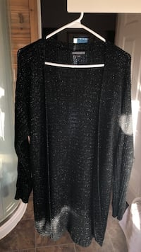 Size (small) Black sparkly long cardigan  null, T0L 1S0