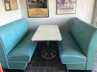turquoise 1970's diner booth Ralston, 68127