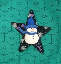 Hand painted Tin Star ornament Parkersburg, 26101