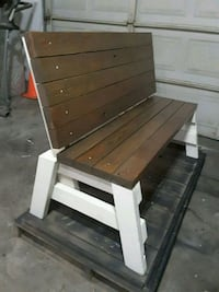 Handcrafted wood bench  Atwater, 95301