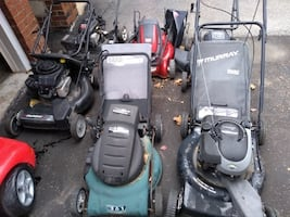 6 Lawnmowers For Sale  DEAL DEAL DEAL!!! ALL OF THEM FOR $140  6 Lawnmowers For Sale    Some working and some for parts and also can be fixed. SOLD AS IS.  VIEW MY OTHER ADS!!!