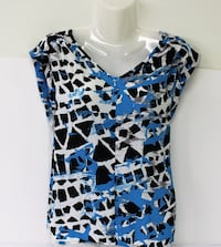 Nine West Printed V-Neck Top -L (Reg.Price $58.96) Pickering