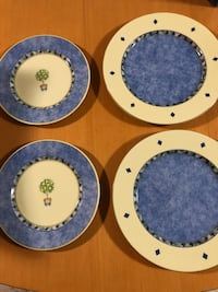 Pattern discontinued. 2 salad plates and 2 dinner plates NEW never used. Vancouver, V5R 4A9